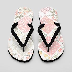 Patchwork Quilt Flip Flops