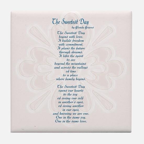 Sweetest Day Poem Tile Coaster