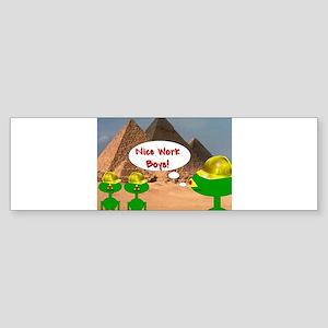 PYRAMID, ALIEN PYRAMID'S Bumper Sticker