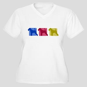 Color Row Welsh Terrier Women's Plus Size V-Neck T