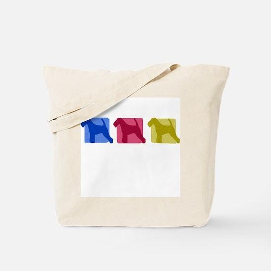 Color Row Welsh Terrier Tote Bag