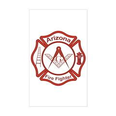 Arizona Masons Fire Fighters Rectangle Decal