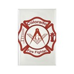 Colorado Masons Fire Fighters Rectangle Magnet