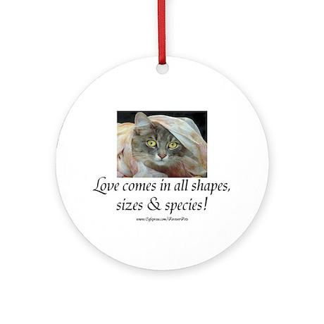 Love Comes (cat) Ornament (Round)
