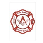 New Jersey Masons Fire Fighters Postcards (Package