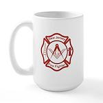 New Jersey Masons Fire Fighters Large Mug