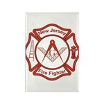 New Jersey Masons Fire Fighters Rectangle Magnet