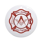 New Jersey Masons Fire Fighters Ornament (Round)