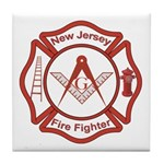 New Jersey Masons Fire Fighters Tile Coaster