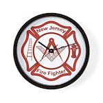 New Jersey Masons Fire Fighters Wall Clock