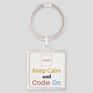 Keep Calm and Code On Keychains