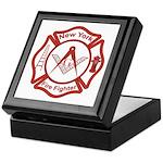 New York Masons Fire Fighters Keepsake Box
