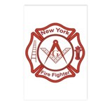 New York Masons Fire Fighters Postcards (Package o