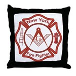 New York Masons Fire Fighters Throw Pillow