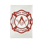New York Masons Fire Fighters Rectangle Magnet (10