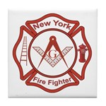 New York Masons Fire Fighters Tile Coaster