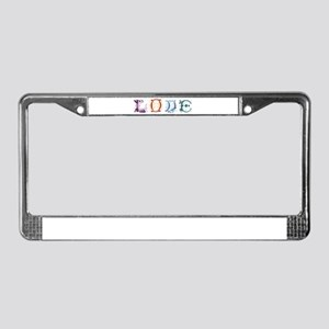 LOVE LETTERS License Plate Frame