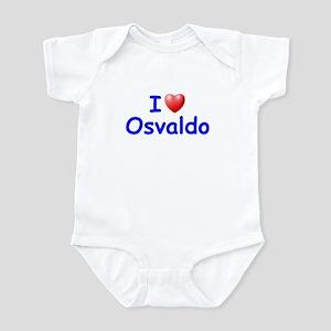 I Love Osvaldo (Blue) Infant Bodysuit