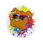 """Pitbull Puppy 3.5"""" Button"""