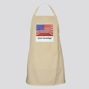 3 Flags Superimposed BBQ Apron