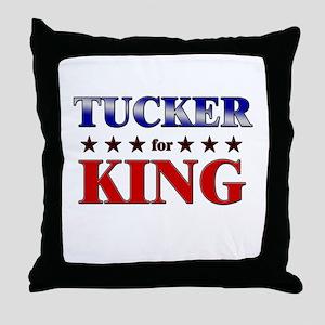 TUCKER for king Throw Pillow