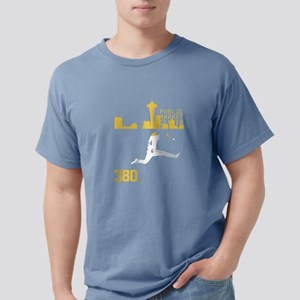 Seattle Baseball Catch Skyline T-Shirt