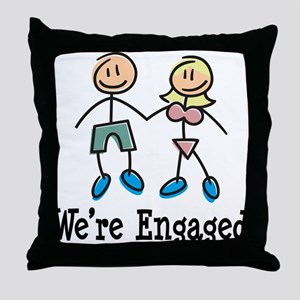 We're Engaged Throw Pillow