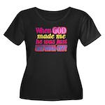 God Showing Off Women's Plus Size Scoop Neck Dark