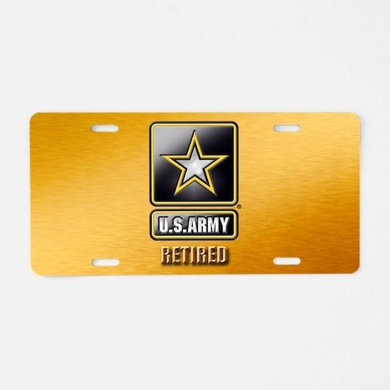 U.s. Army Retired Aluminum License Plate
