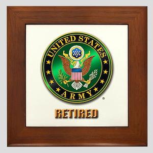 U.S. ARMY RETIRED Framed Tile