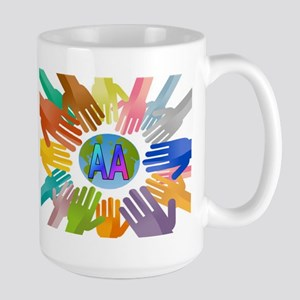 COLORED AA HANDS Mugs