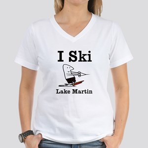 I ski Women's V-Neck T-Shirt