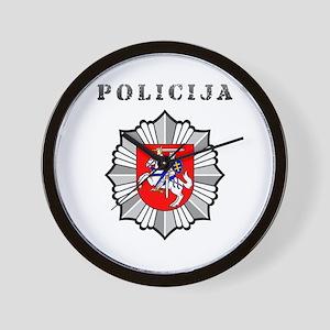 Policija Wall Clock