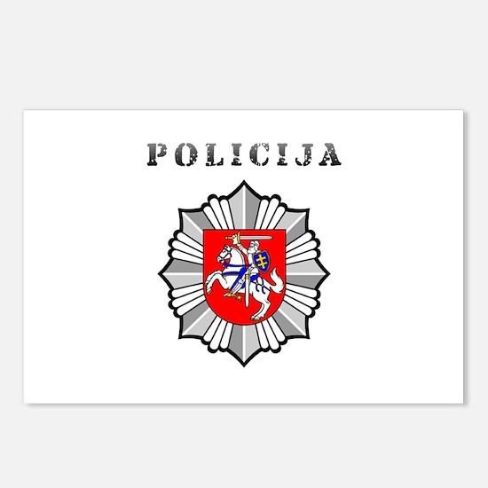 Policija Postcards (Package of 8)