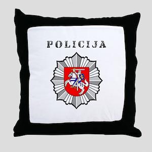 Policija Throw Pillow