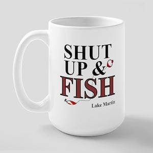 Shut Up & Fish Large Mug