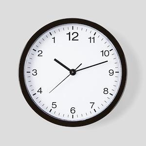 Backwards Office Clock Wall Clock
