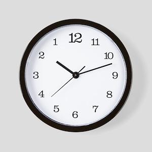 Backwards Classic Wall Clock