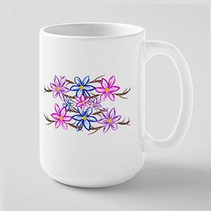 Violet Doodle Art Flowers Mugs