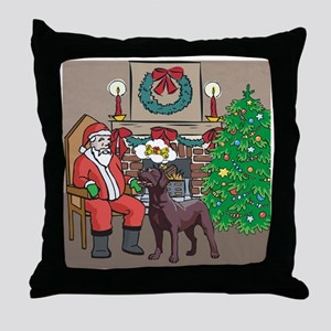 What A Lab Wants For Christmas Throw Pillow