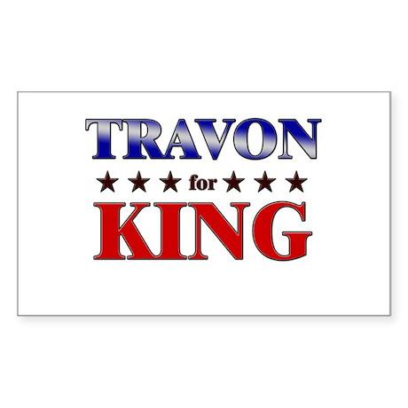 TRAVON for king Rectangle Sticker