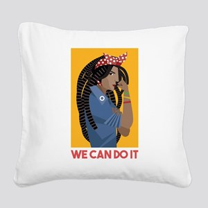 We can do it Square Canvas Pillow