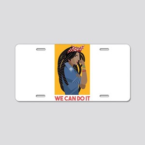 We can do it Aluminum License Plate