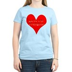 Love My Firefighter Women's Light T-Shirt