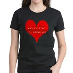 Love My Firefighter Women's Dark T-Shirt