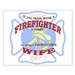 USA Firefighter Small Poster