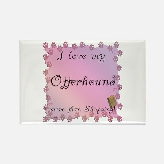 Otterhound Shopping Rectangle Magnet