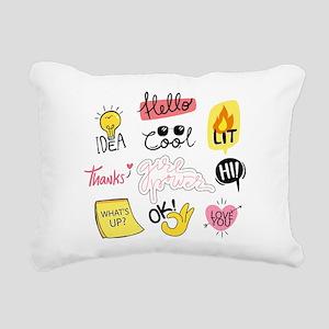 Girl power Rectangular Canvas Pillow