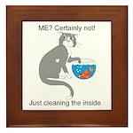 Naughty Kitty Framed Tile