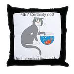 Naughty Kitty Throw Pillow